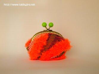ビーズ編みのがま口-地殻の画像