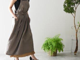 リネン エプロンドレス Dressy line MOCAの画像