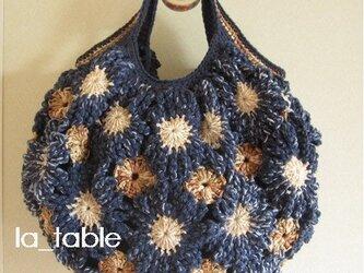 花たくさんのバッグ「JAPAN BLUE」の画像