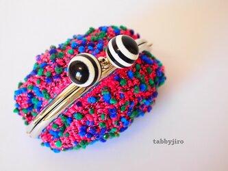 ビーズ編みのがま口-深海ギョ!の画像
