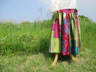 着物リメイク * ティアードスカート*の画像