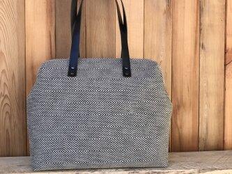Boston bag  L size [Växbo Lin]黒の画像