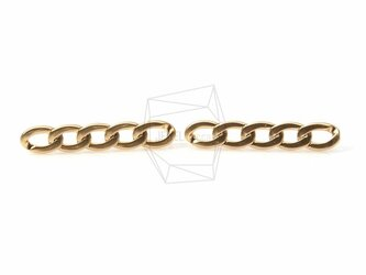 ERG-130-MG【2個入り】ファイブリンクチェーンピアス,Flat Five Link Chain Postの画像