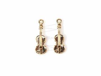 PDT-683-G【2個入り】バイオリンチャーム,Violin Charm/8mm x 21mmの画像