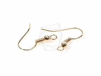 ERG-173-G【10個入り】シンプルピアスフック,Simple Line Hook Ear Wiresの画像