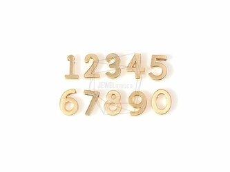 PDT-695-MG【2個入り】ナンバー「1〜0」,Number Pendant(1~0)/ 5mm X 8mmの画像