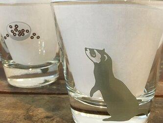 フェレット ロックグラス ★  ガラスコップ シャビーシック 300ccの画像
