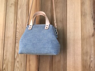 Boston bag / ポシェット 青の画像