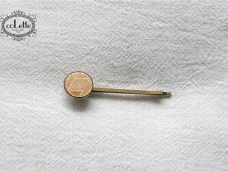 フランスアンティークボタンヘアピン/サークルライン模様(H/AFB-007)の画像