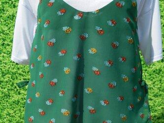 花柄シフォン両脇リボンキャミソールの画像