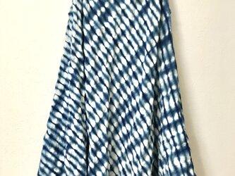 藍染 コットンワッフルチュニックの画像