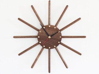 ブラックウォールナット  掛け時計の画像