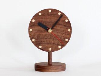 ブラックウォールナット  置時計の画像
