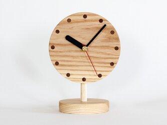 ホワイトアッシュ 置時計の画像