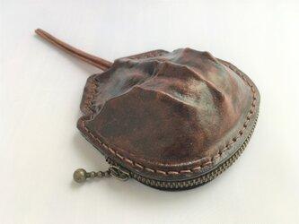 カブトガニの本革コインケースの画像