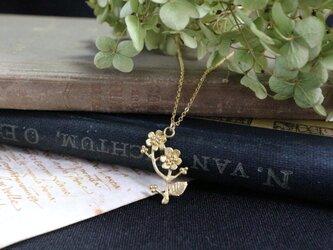 真鍮のネックレス「秘密」の画像