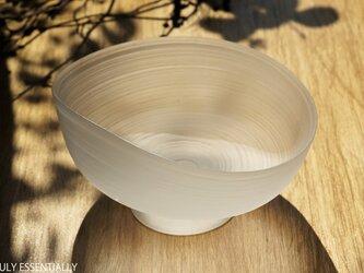無色透明ガラスの器 -「 The Vessel of Light - 月明かりの器 」● 幅18cmの画像