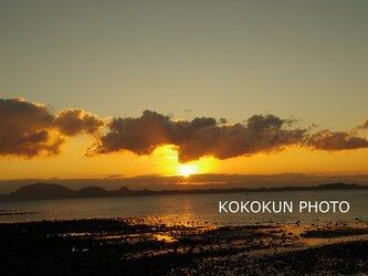 有明海の朝の風景3「ポストカード5枚セット」の画像