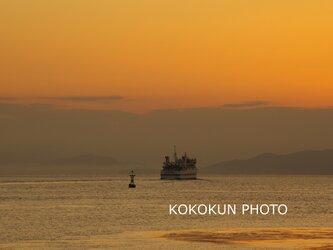 有明海の朝の風景6「ポストカード5枚セット」の画像
