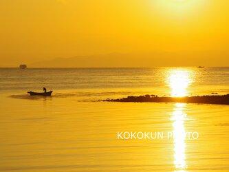 有明海の朝の風景7「ポストカード5枚セット」の画像