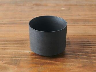 切立碗 黒 焼き締めの画像