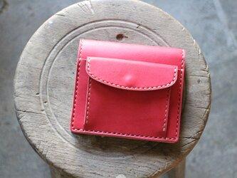 【受注生産品】コインが取り出しやすい二つ折り財布 ~姫路アニリンピンク×栃木ヌメ~の画像