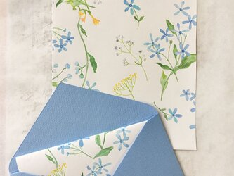 Blue star letter A5 〜ブルースターのレターセット〜の画像