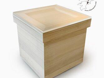 桐の茶箱L+アクリル板セットの画像