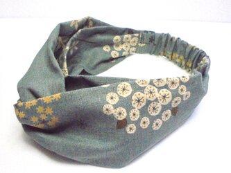 カルミアの花(ブルーグレー) ツイスト・ヘアバンドの画像