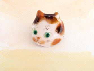 風船猫のピンブローチ 469の画像