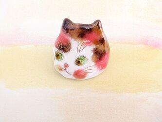 風船猫のピンブローチ 478の画像