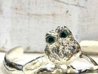 フクロウのバングル(シルバー925)の画像