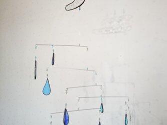 ステンドグラス モビール「ブルーのしずく」の画像