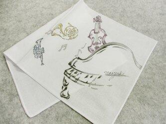 綿ハンカチ(オーケストラⅡ)の画像