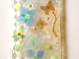 M様オーダー♪本物の紫陽花でIPHONE5ケースの画像