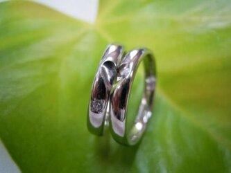 新潟県長岡市 ジュエリー皇妃☆手作り結婚指輪☆甲丸&ハートの画像