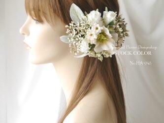 ナチュラルガーデン風*ヘッドドレス/ヘアアクセサリー(アイボリーホワイト)*結婚式・成人式・ウェディングドレスにの画像