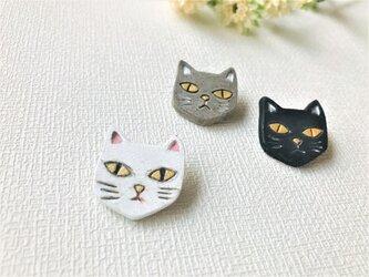 猫のブローチ/WHの画像
