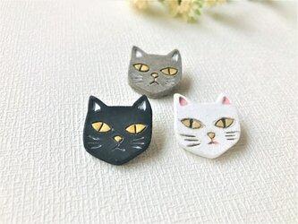 猫のブローチ/BKの画像