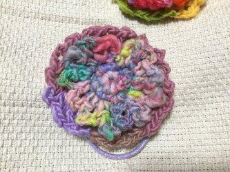 オリジナルデザイン 【手紡ぎ糸(KAPI糸さん)ヘアゴムの販売です✨】②の画像