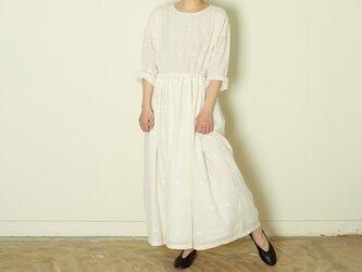 ピンタックドレス ジャムダニ creamの画像