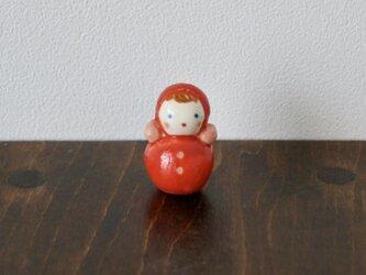 おきあがりこぼしのフェーブ(赤)の画像