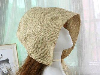 かわいいスタイル 自然素材の麦わら帽子の画像