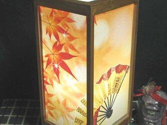 秋冷の宿≪もみじ葉の舞≫飾りライトスタンドの醍醐味を!!の画像