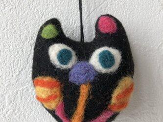 黒猫ストラップの画像