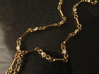 K18 Diamonds Hand made gold chain Braceletの画像