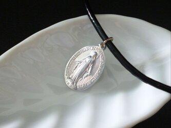フランス奇跡のメダイのネックレス - silverの画像