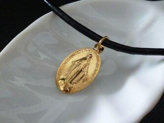 フランス奇跡のメダイのネックレス - goldの画像