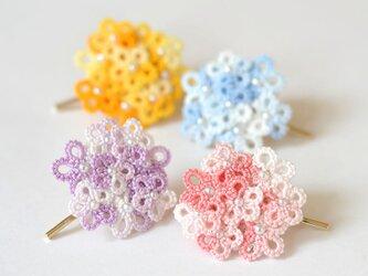 花束ポニーフック レース編み タティングレースの画像