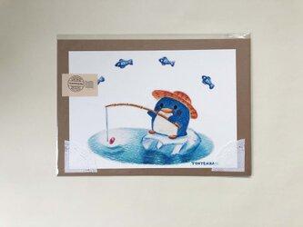 ペンギンの魚釣り ポスターno.154の画像